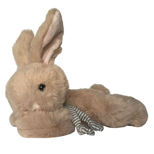 Bukowski Designs Brown Toy Rabbit Buster with scarf side