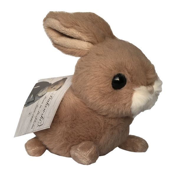 Bukowski Brown Toy Rabbit Hera side with label