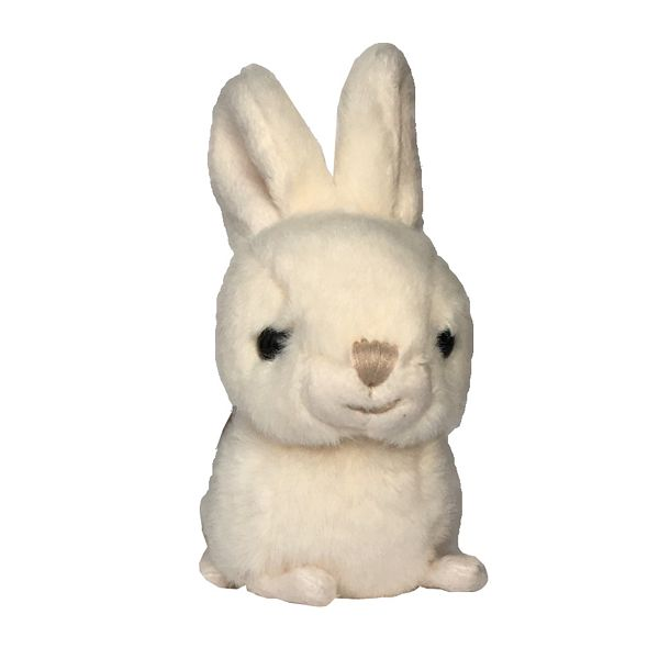 Bukowski White Toy Rabbit Baby Zeus front