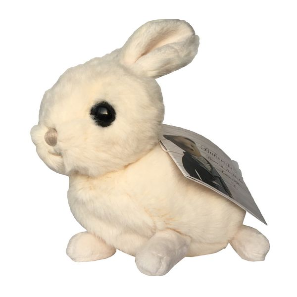 Bukowski White Toy Rabbit Zeus side with label