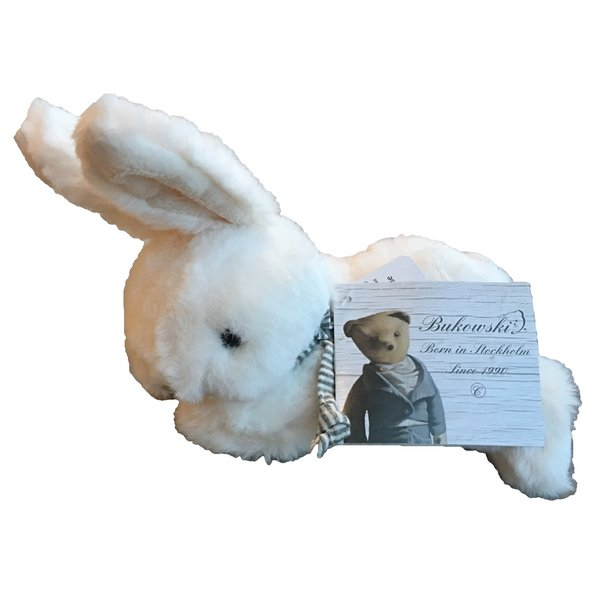 Bukowski White Toy Rabbit Coco with scarf side