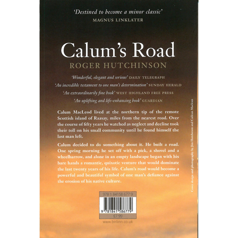 Roger Hutchinson - Calum's Road - Book back cover
