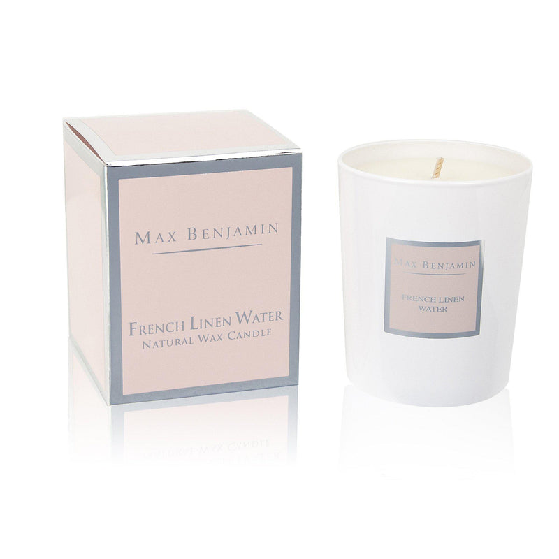 Max Benjamin Candle in Gift Box - French Linen Water