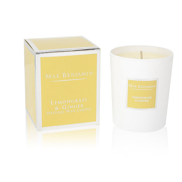 Max Benjamin Candle in Gift Box - Lemongrass and Ginger
