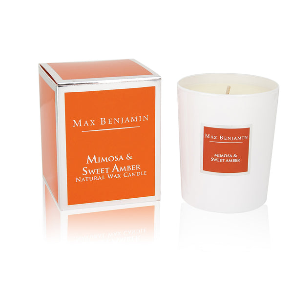 Max Benjamin Candle in Gift Box - Mimosa & Sweet Amber