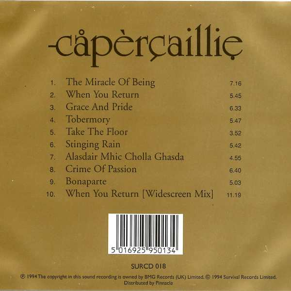 Capercaillie - Capercaillie - CD cover back