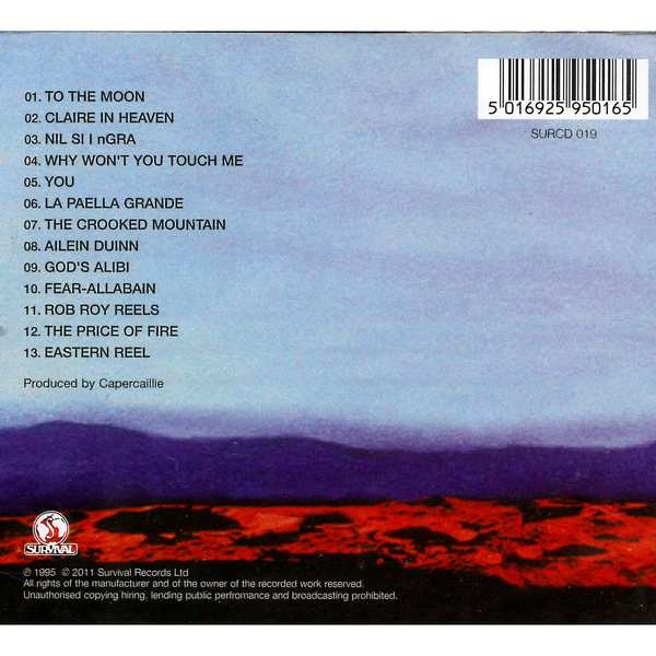Capercaillie - To The Moon - Cd Cover back