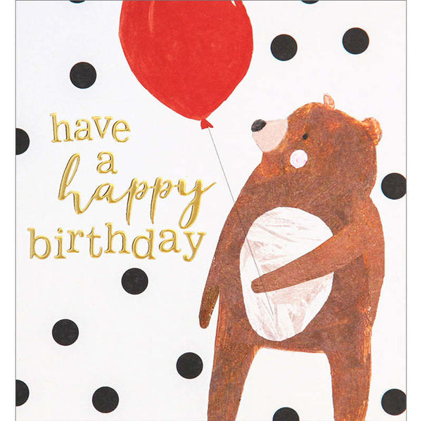 Bear & Balloon Birthday Card