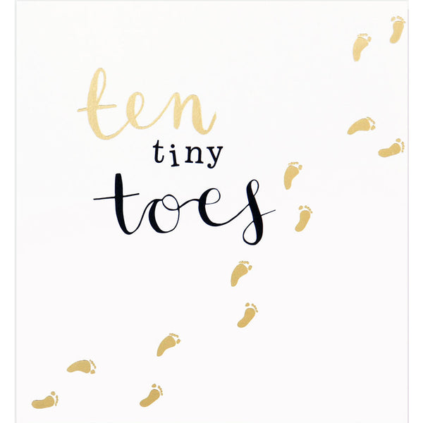 Ten Tiny Toes New Baby Card