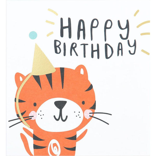 Caroline Gardner pty 001 Child Happy Birthday Tiger Card