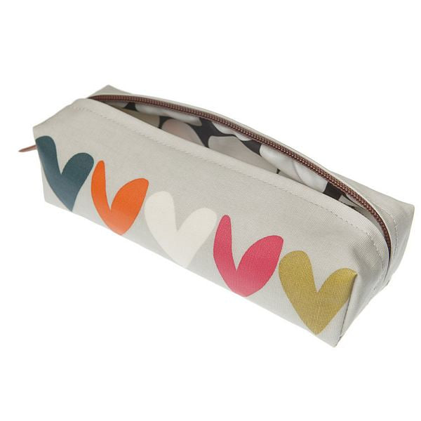 Caroline Gardner Hearts Pencil Case PCA002