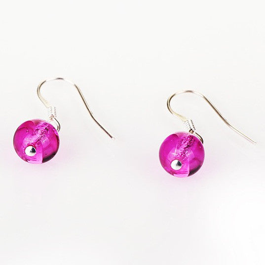 Carrie Elspeth Pink Galaxy Earrings angled