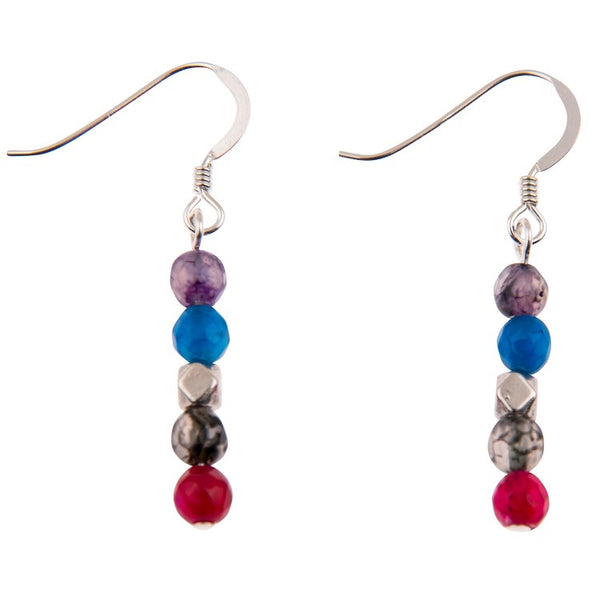 Carrie Elspeth Rainbow Medley Agate Earrings EH1512-1513 main