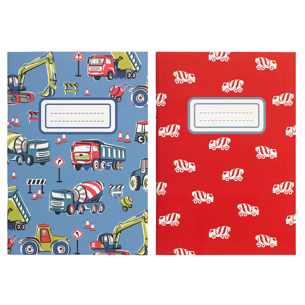 Cath Kidston Construction Site A5 Notebooks Pack of 2