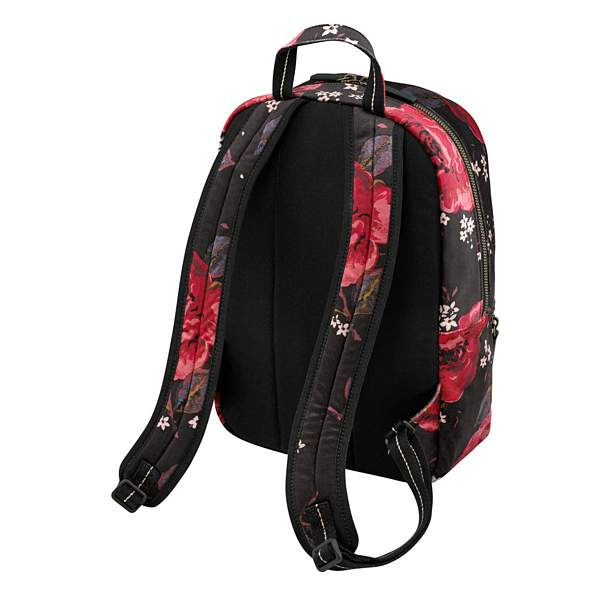 Cath Kidston Jacquard Rose Black Velvet Backpack 789011 back