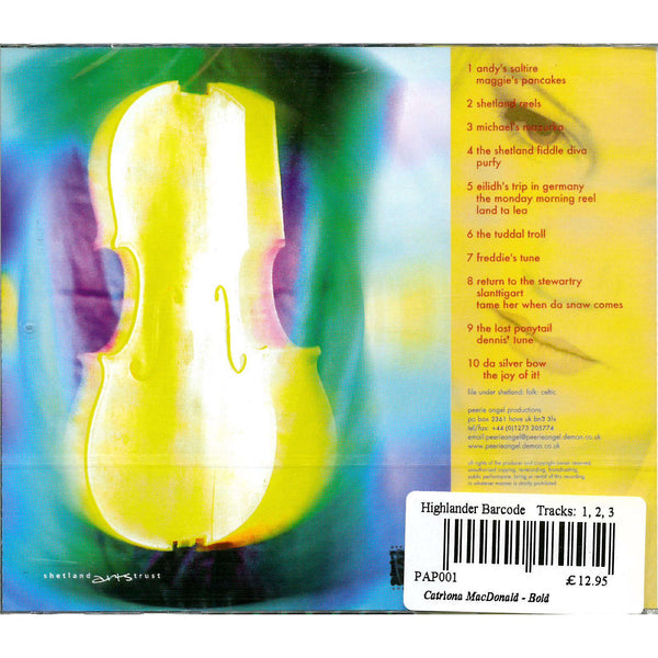 Catriona MacDonald - Bold CD back cover