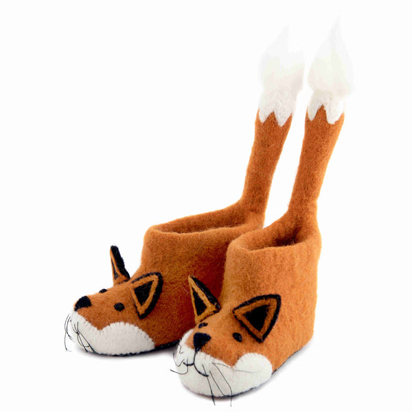 Finlay Fox Children's Felt Slippers - Front