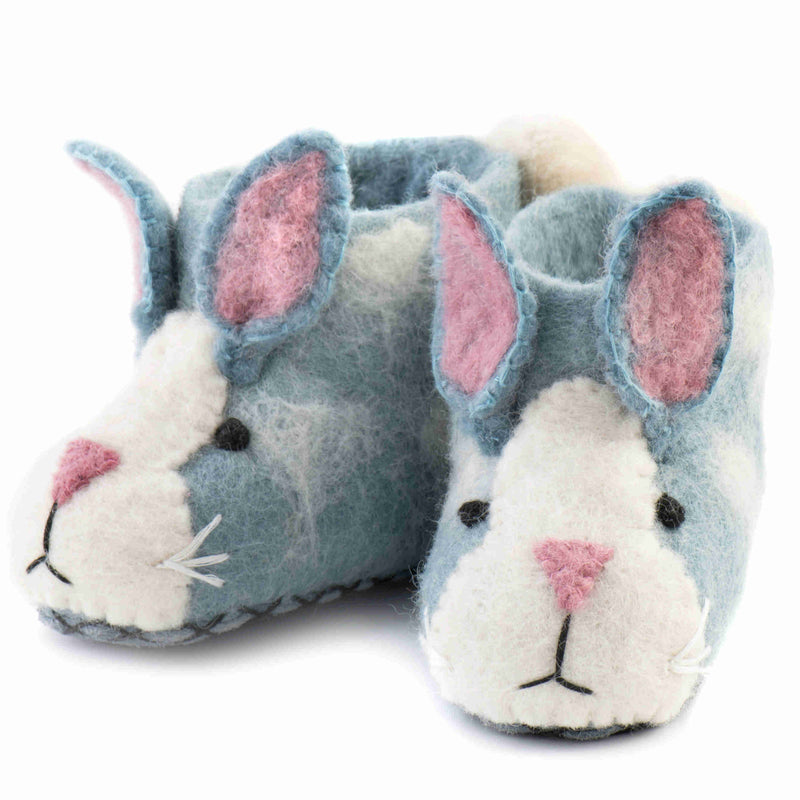 Children's Felt Slippers Rory Rabbit - front
