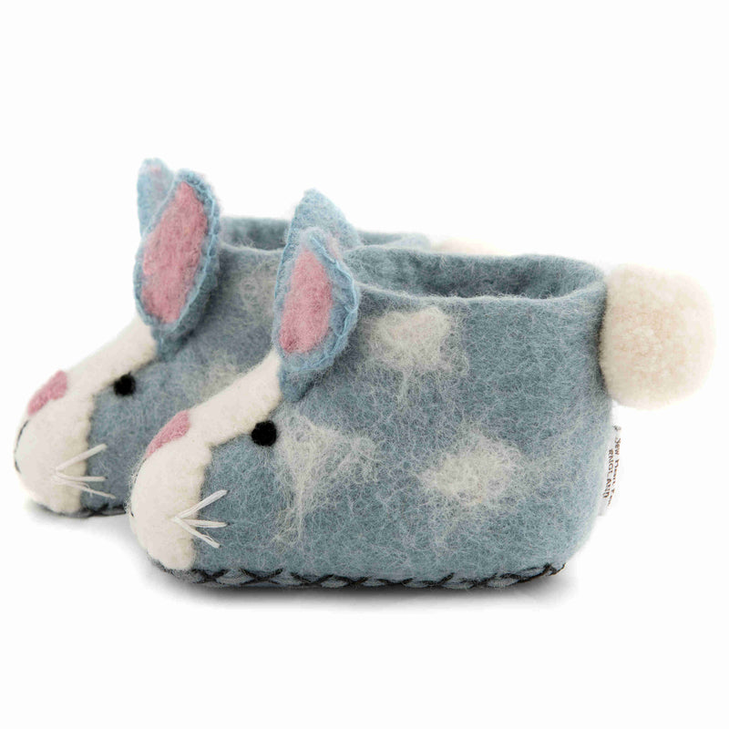 Children's Felt Slippers Rory Rabbit - side