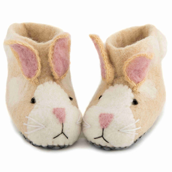 Children's Felt Slippers Ruby Rabbit - Front
