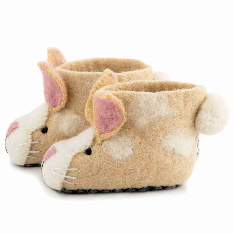 Children's Felt Slippers Ruby Rabbit - side
