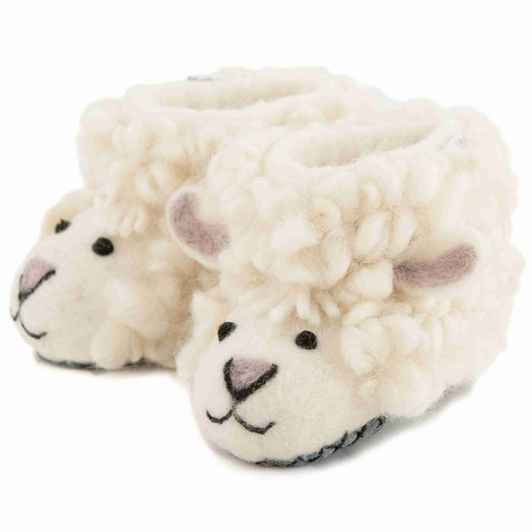 Children's Felt Slippers Shirley Sheep - Front