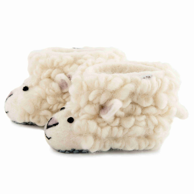 Children's Felt Slippers Shirley Sheep - side