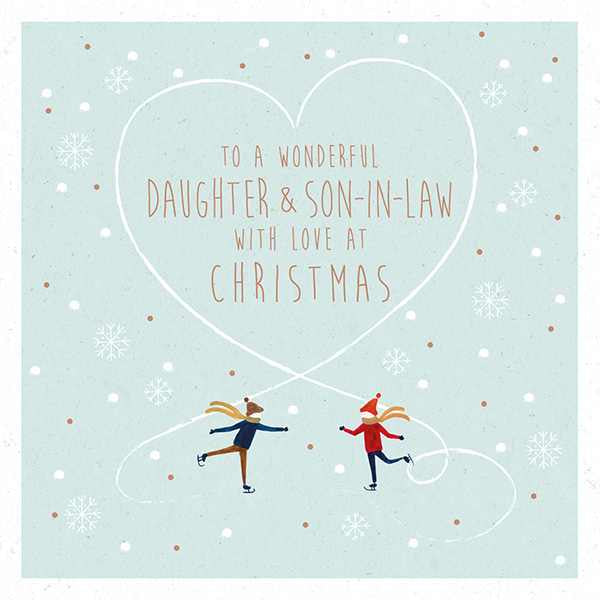Christmas Card - To A Wonderful Daughter & Son-in-Law AFRX192