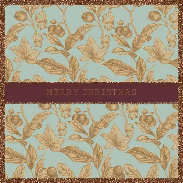 Christmas Cards 6 Pack - Gold Foliage XP321