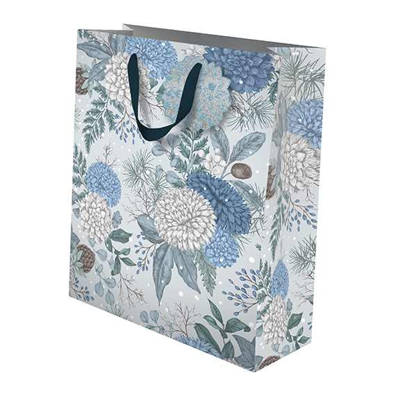 Christmas Gift Bag Sapphire & Snow Medium GBX176