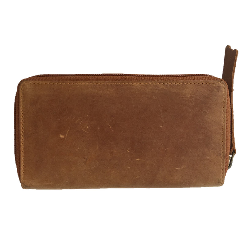 Cognac Tabbed Purse back