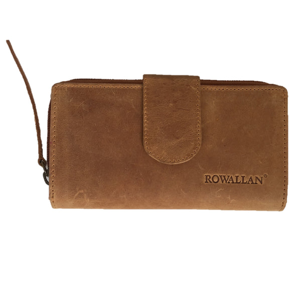 Cognac Tabbed Purse