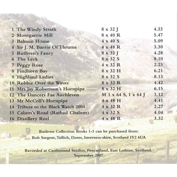 Colin Dewar & His Scottish Dance Band - The Ruthven Collection CD inlay track list