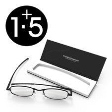 Compact Reading Glasses - jet 1.5