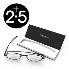 Compact Reading Glasses - jet 2.5