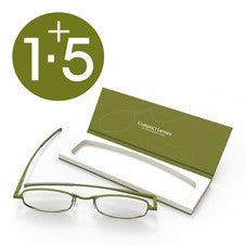 Compact Reading Glasses - olive 1.5