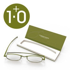 Compact Reading Glasses - olive 1.0