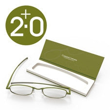 Compact Reading Glasses - olive 2.0