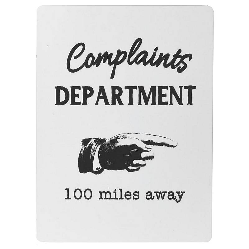 Complaints Department Sign STN1370