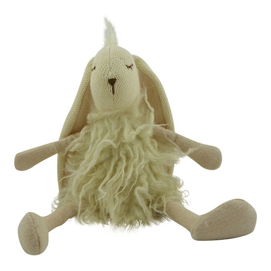 Cuddly Toy Long Haired Rabbit