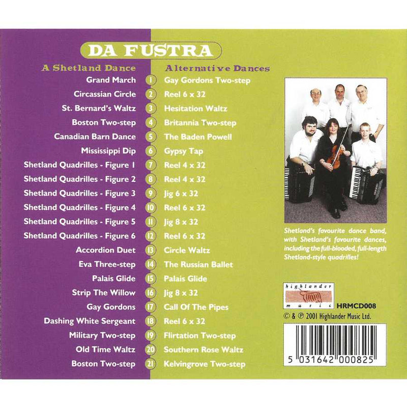 Da Fustra - A Shetland Dance CD inlay track list