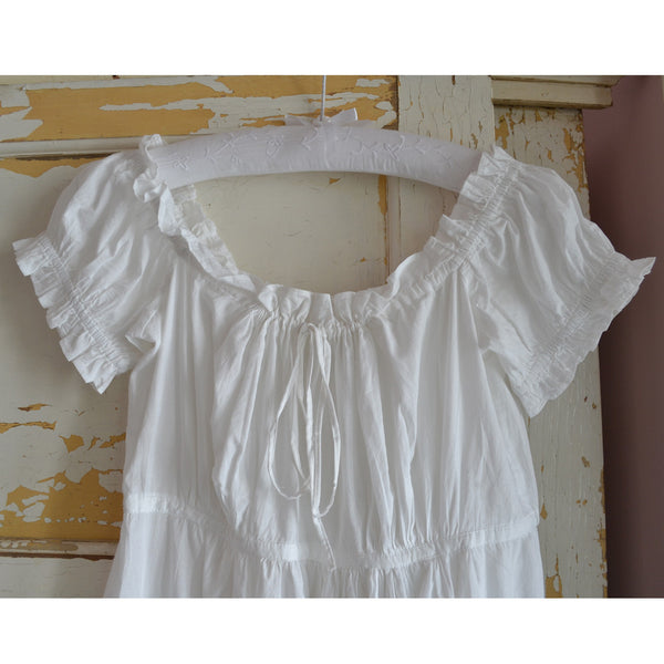 Darcey Nightdress Ruffled Sleeves detail