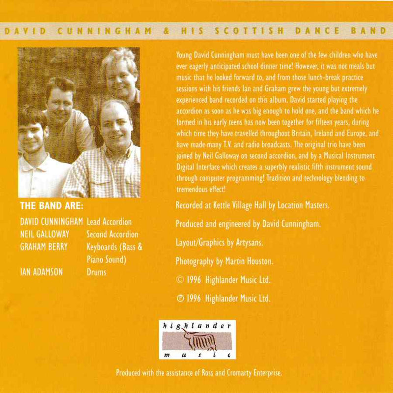David Cunningham & His Scottish Dance Band - Scottish Dances Volume 3 CD booklet inside