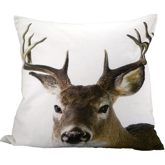 Deer stag canvas cushion Large