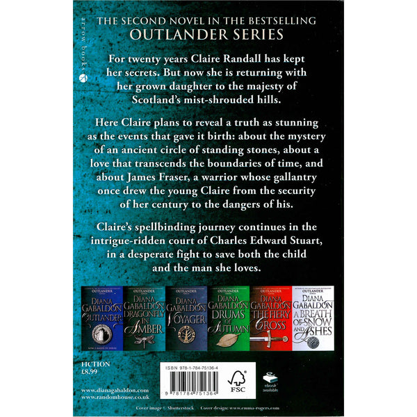 Outlander 2 - Diana Gabaldon - Dragonfly In Amber back cover