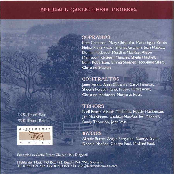 Dingwall Gaelic Choir - Going Home CD booklet back
