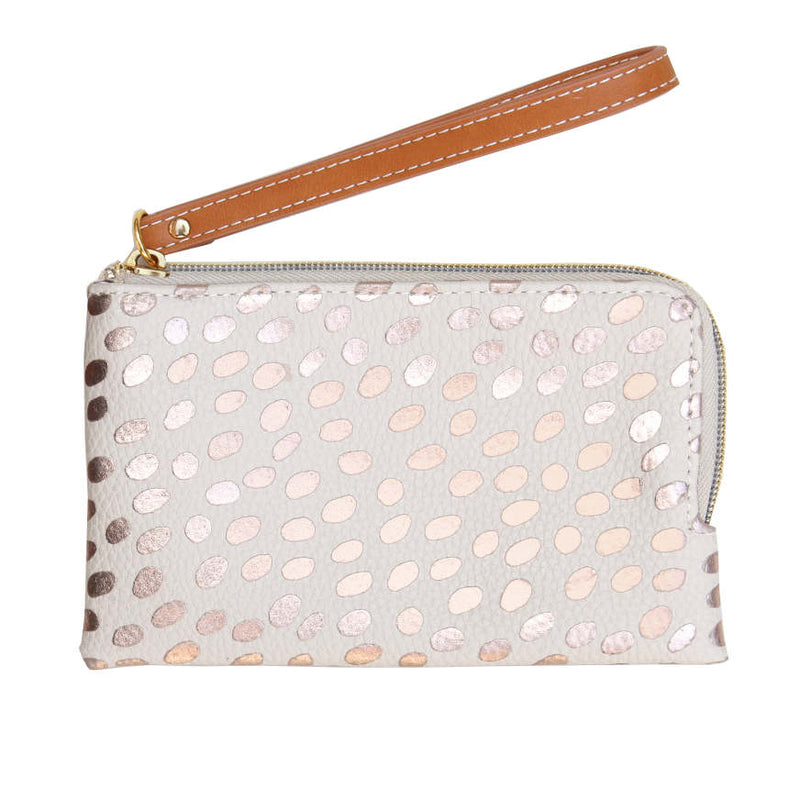Dotty Rose Gold Metallic Purse ESP100