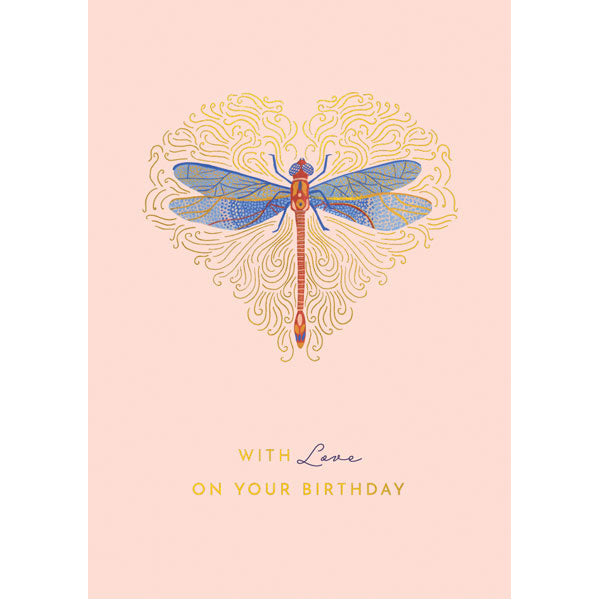Dragonfly With Love On Your Birthday Card TQ12