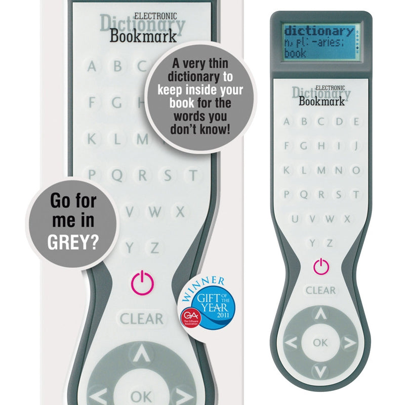 Electronic Dictionary Bookmark - grey