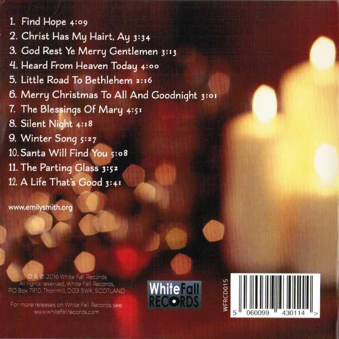 Emily Smith - Songs For Christmas CD back